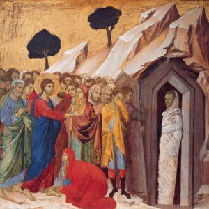 Jesus opvækker Lazarus